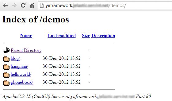 yii framework demo
