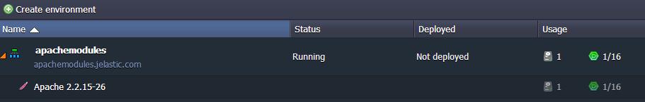 Apache Server Environment