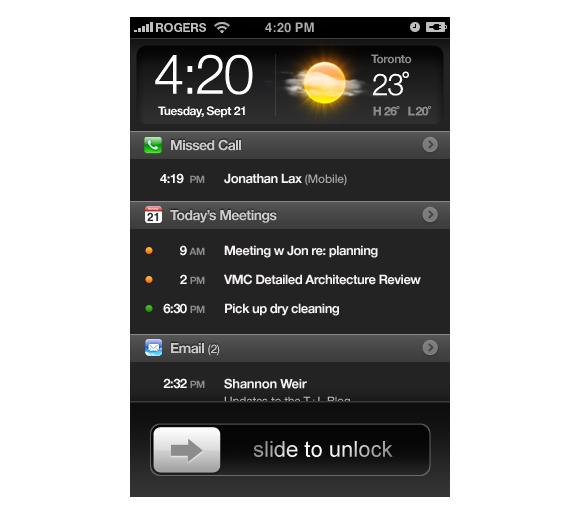 iOS 5 Wish #1 Locksreen
