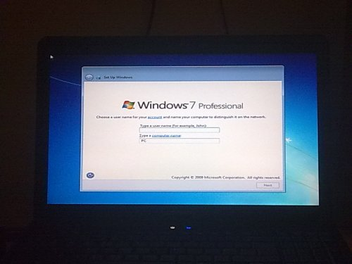 Windows 7 Setup