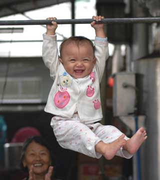 Chinese Olympic gymnastics hopeful training for 2012 Summer Games