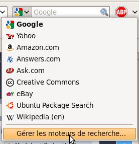 Editer la liste des moteurs de recherche de FireFox