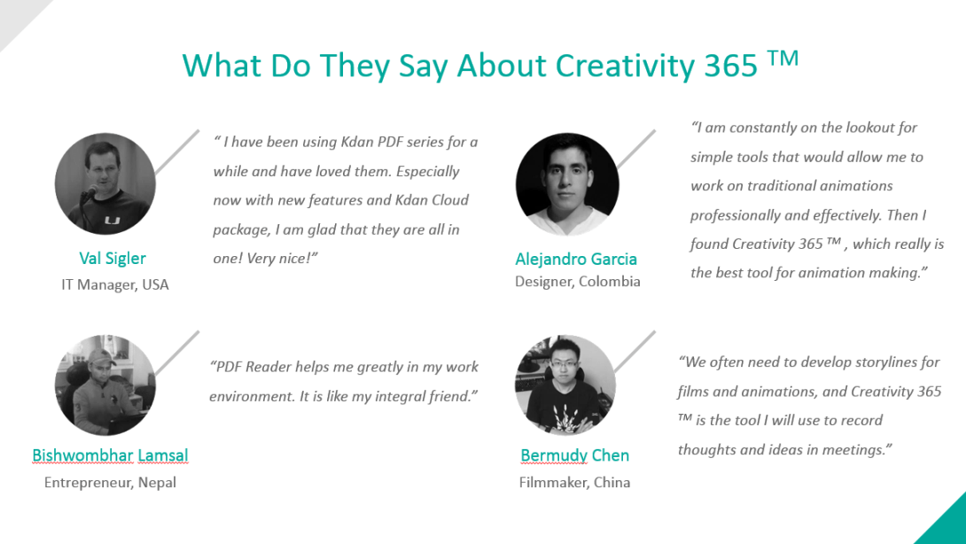 Creativity 365 user stories