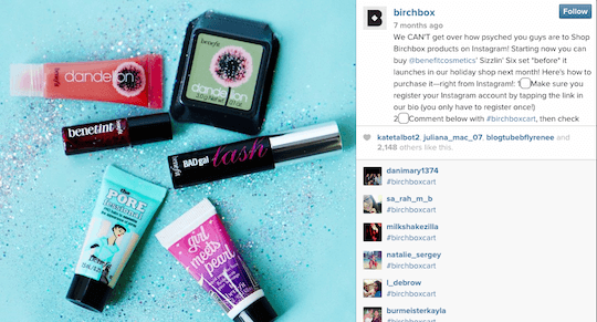 Birchbox-Instagram-Selling
