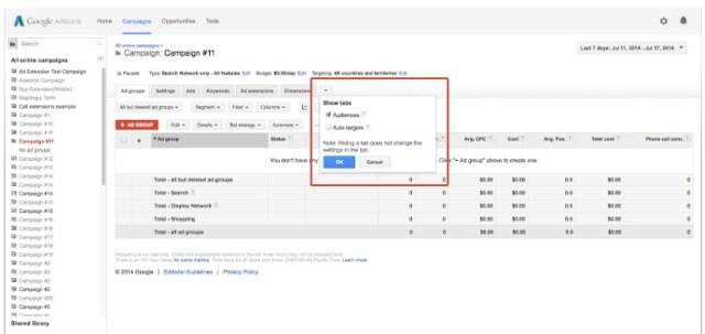 show-tabs-google-adwords