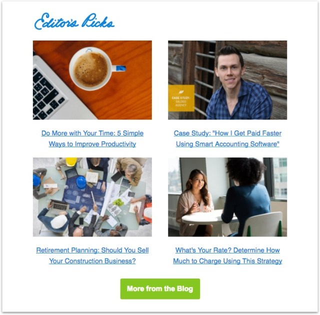 freshbooks newsletter articles