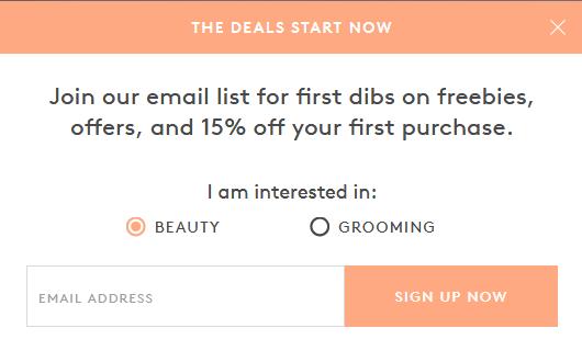 email signup segmentation