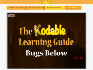 Take a look at learning guides for information about the Kodable World