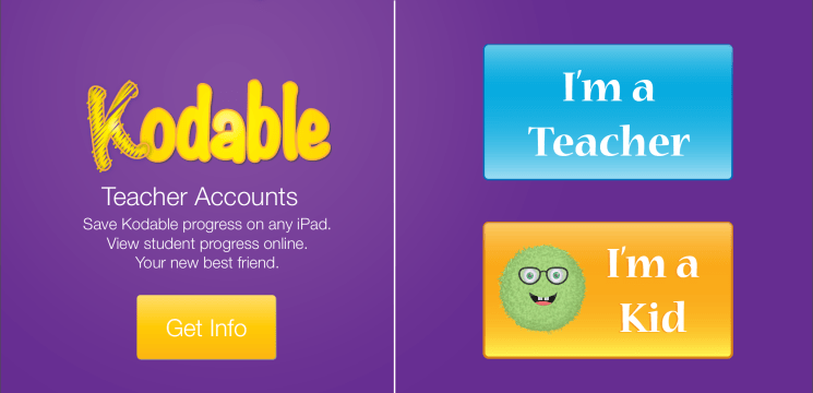 Enroll in a Kodable Free Teacher Account to manage your students.