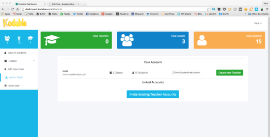 Manage your teacher accounts as an administrator