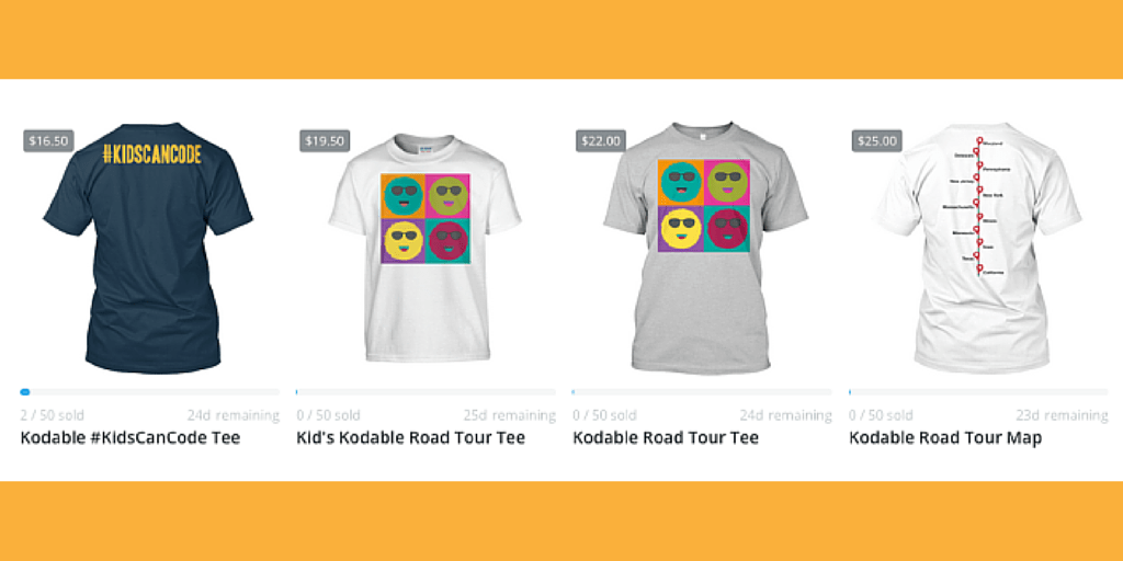 Kodable Road Tour Swag