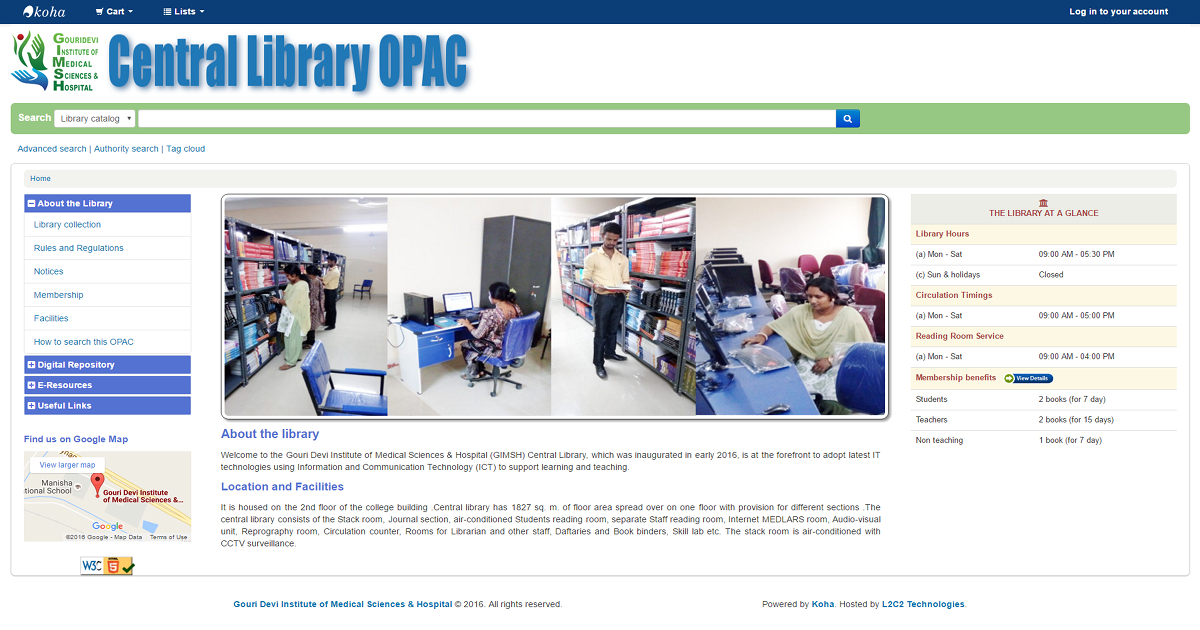 Gouri Devi Institute of Medical Sciences & Hospital library partners with L2C2 Technologies