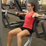 Bethany doing cable press at LA Fitness 1