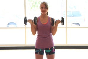biceps dumbbell curls at LA Fitness with Taelor -3