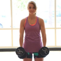 biceps dumbbell rotation curls at LA Fitness with Taelor - 1