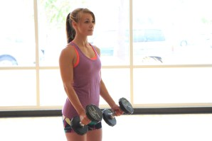 Hammer biceps dumbbell curls at LA Fitness with Taelor - 1