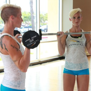 a reverse grip barbell curl from living healthy and LA Fitness (2)