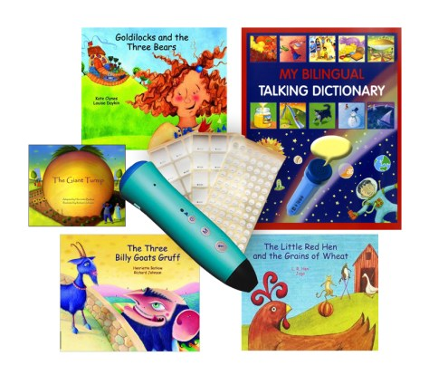 PENpal Audio Voice Recorder Pen Bilingual Childrens Books and Labels