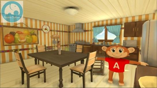 The Spanish Safari Kitchen with a model of Arturo in it.