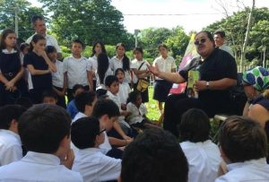 Francisco teaching young people.