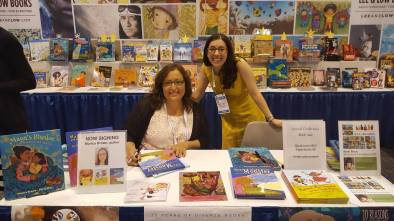 me with one of our fabulous authors, Monica Brown, at the ALA conference this year