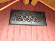 A register cover they had around the house helps ventilate the coop.