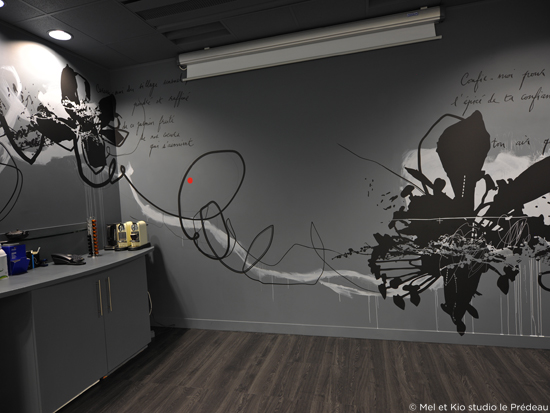design mural par mel et kio. Black Bedroom Furniture Sets. Home Design Ideas