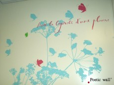 Poetic wall - design mural - Centre Henri Becquerel