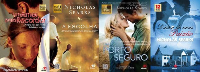 Indicação de livros disponíveis: Nicholas Sparks