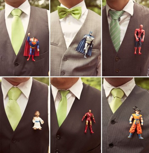 Getting married on a budget and make superhero boutineers