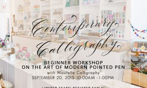 Contemporary Calligraphy with Maurelle