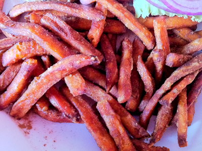 Sweet Potato Fries at Godfather's Burger Lounge in Belmont