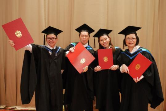 MBA Graduation with Scott, Ee Ling, Ms Tong