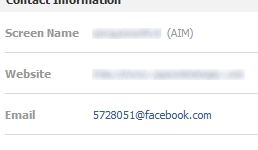 Facebook Email: Before