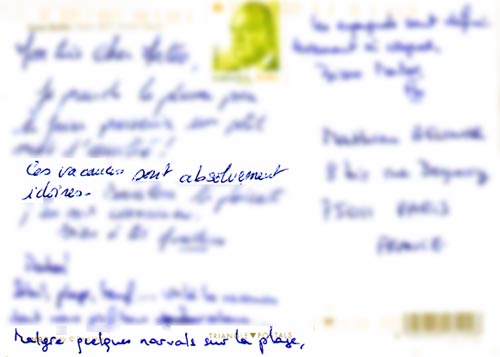 Carte postale idoine et narvalesque