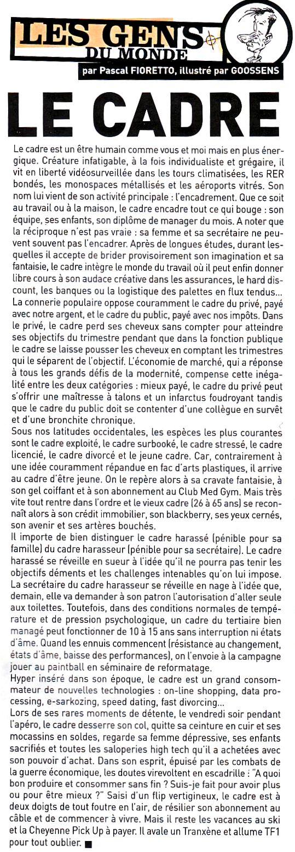 Fluide Glacial N°378 - Décembre 2007 - Le Cadre de Pascal Fioretto