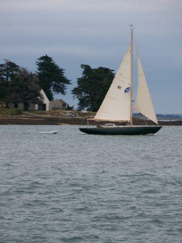 Un bateau dans le golfe du Morbihan