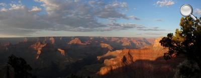 Grand Canyon National Park - Vue globale au coucher du soleil