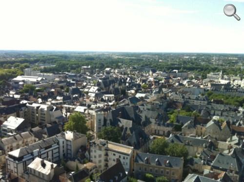 Vue du haut de la Tour nord de la Cathédrale de Bourges