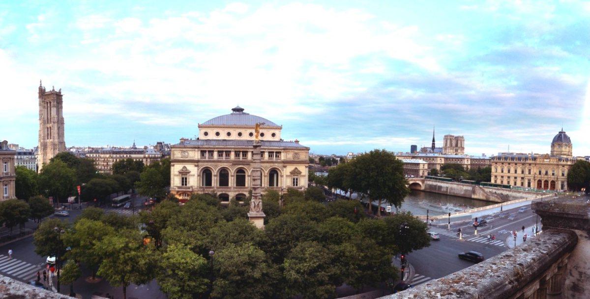 Vue de la terrasse du Salon Nijinski du Théâtre du Châtelet