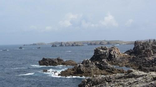 Vue d'une des côtes d'Ouessant