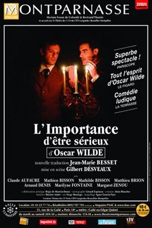 L'importance d'être sérieux d'Oscar Wilde au Théâtre Montparnasse