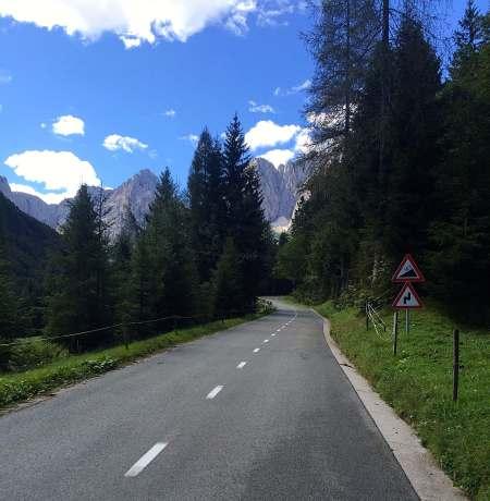 Vršić pass - one of the classic climbs in Slovenia