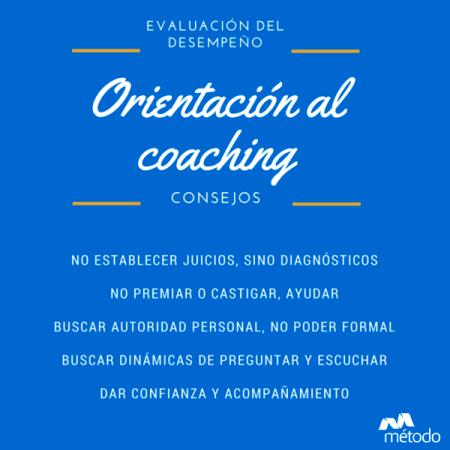 Evaluación del desempeño a través del coaching. Consejos
