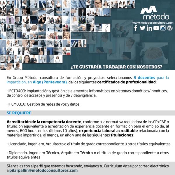 Grupo Método selecciona docentes para Vigo