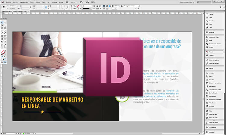 Adobe Indesign pantalla