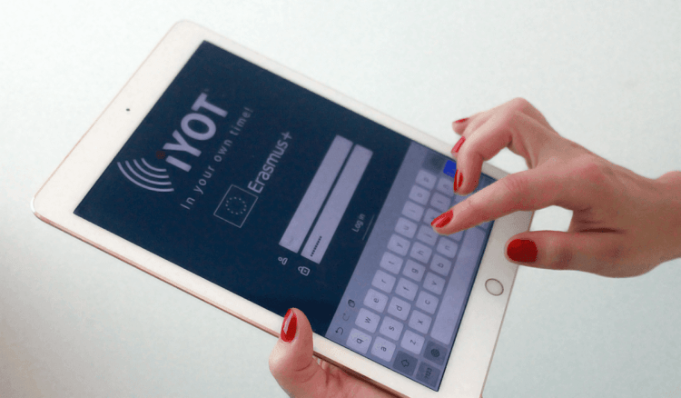iYOT App using tablet