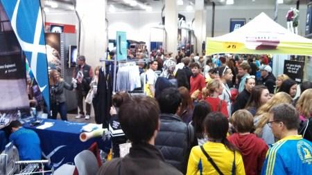 boston marathon expo crowds