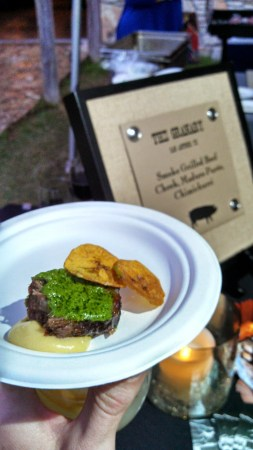 Smoke-Grilled Beef Cheek, Plantain, and Chimichurri from The Granary