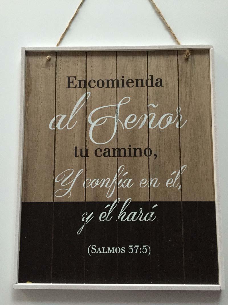 cuadros vintage mensaje biblico salmos 37-5